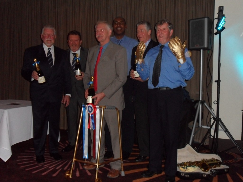 (L-R): Ken Fletcher, Chris Parsons, John Longstaff, Andy Morris, Tony Bates and Eric Bagshaw.
